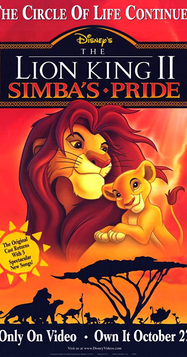 Subtitle of The Lion King 2: Simba's Pride