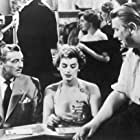 Cesar Romero, Kay Kendall, and Stuart Saunders in Street of Shadows (1953)