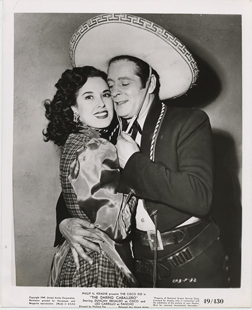 Duncan Renaldo and Kippee Valez in The Daring Caballero (1949)