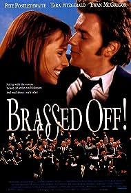 Ewan McGregor, Pete Postlethwaite, and Tara Fitzgerald in Brassed Off (1996)