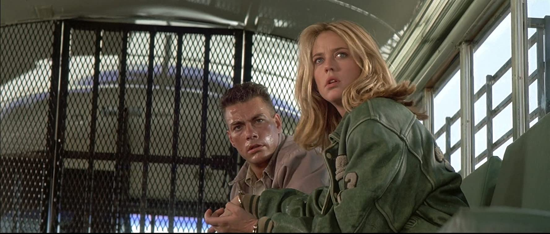 Jean-Claude Van Damme and Ally Walker in Universal Soldier (1992)