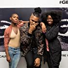 Michaela Coel, Clara Amfo, and MNEK at an event for Get Out (2017)