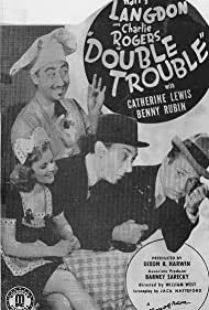 Harry Langdon, Louise Currie, Charley Rogers, and Benny Rubin in Double Trouble (1941)