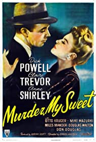 Dick Powell and Claire Trevor in Murder, My Sweet (1944)
