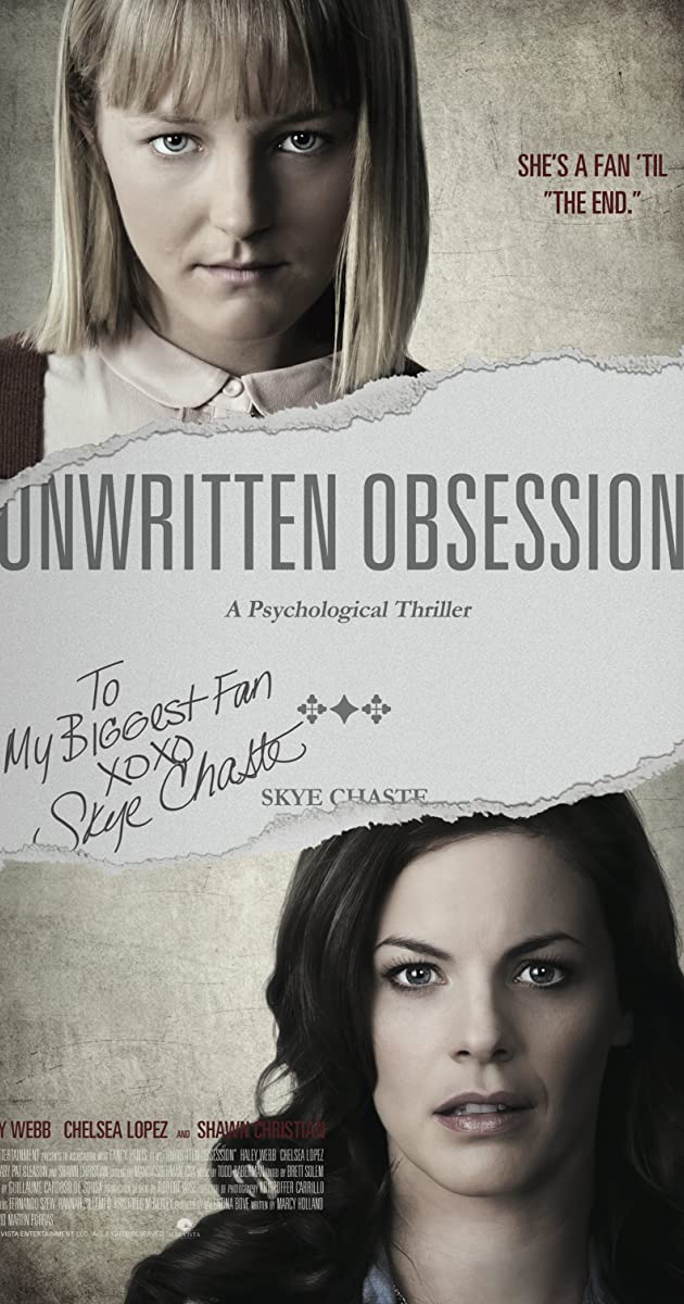 unwritten obsession  tv movie 2017