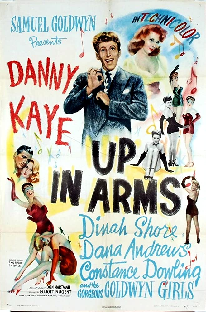 Danny Kaye, Constance Dowling, Dinah Shore, and The Goldwyn Girls in Up in Arms (1944)
