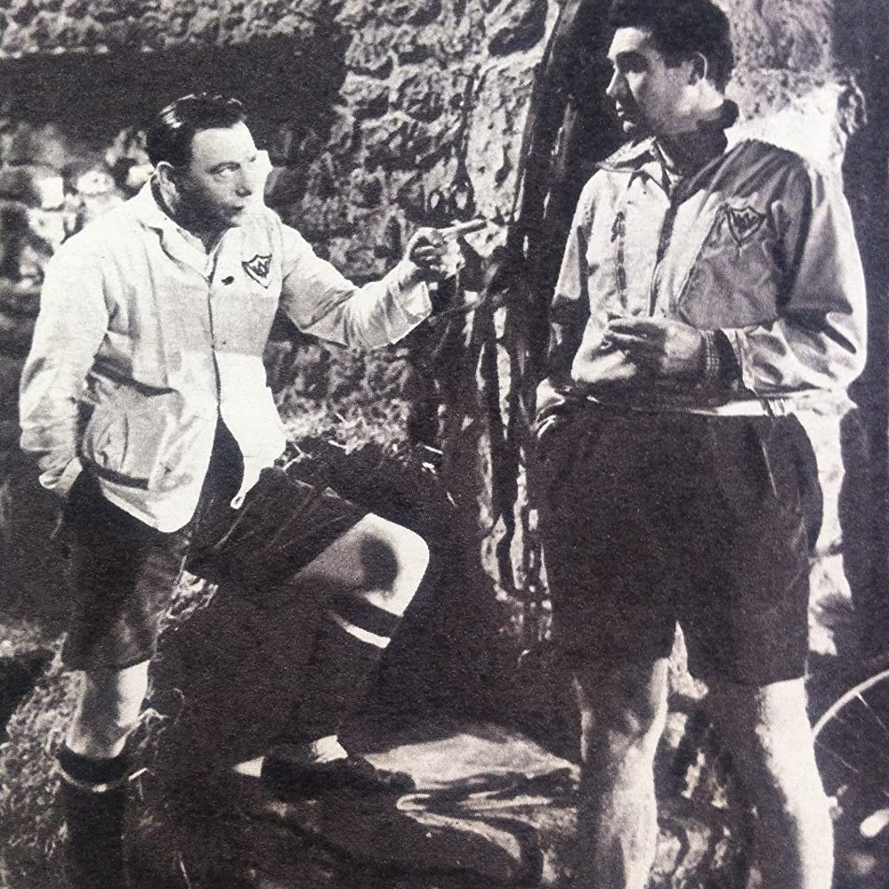 Leslie Dwyer and Patrick Holt in A Boy, a Girl and a Bike (1949)