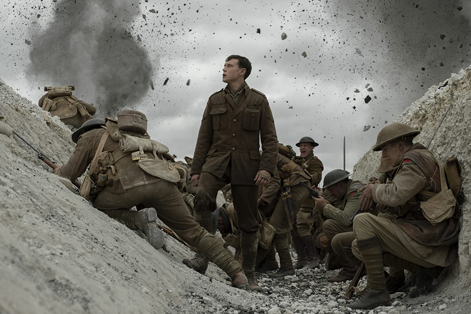 George MacKay and Jamie Parker in 1917 (2019)