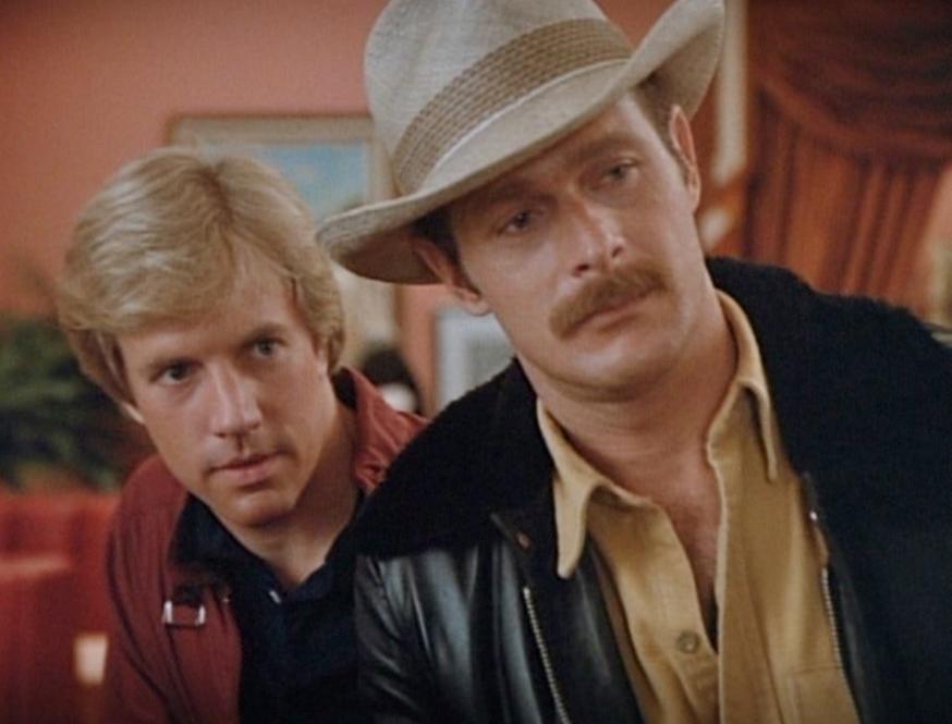 Gerald McRaney and Jameson Parker in Simon  Simon 1981