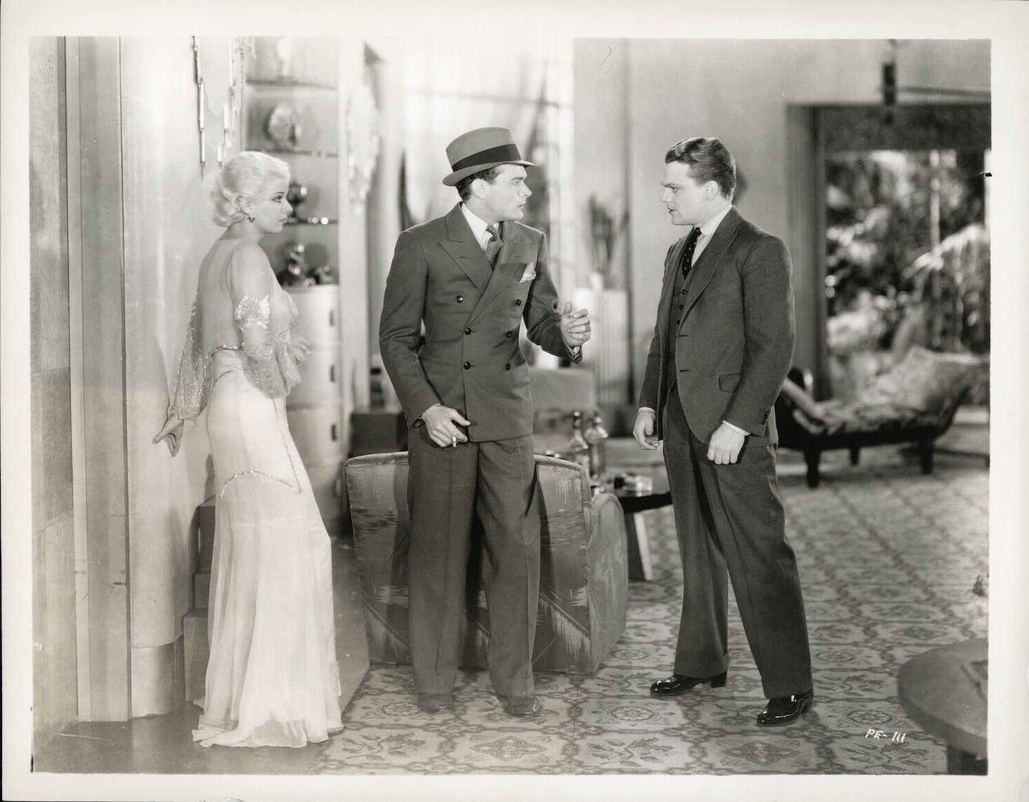 James Cagney, Jean Harlow, and Edward Woods in The Public Enemy (1931)