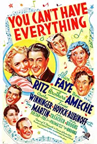 Don Ameche, Alice Faye, Gypsy Rose Lee, Tony Martin, Al Ritz, Harry Ritz, Jimmy Ritz, Arthur Treacher, Charles Winninger, and The Ritz Brothers in You Can't Have Everything (1937)