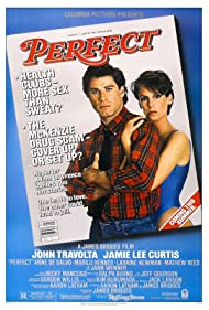 Jamie Lee Curtis and John Travolta in Perfect (1985)