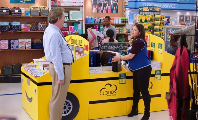 Mark McKinney and America Ferrera in Superstore (2015)