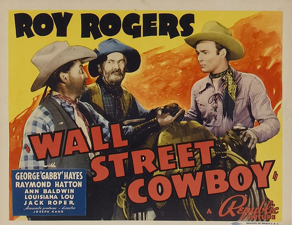 Roy Rogers, Raymond Hatton, and George 'Gabby' Hayes in Wall Street Cowboy (1939)