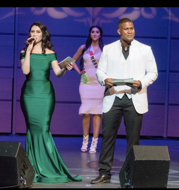 Hosting a beauty pageant