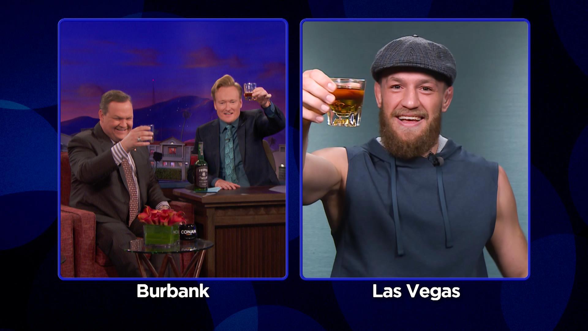 Conan O'Brien, Andy Richter, and Conor McGregor in Conan (2010)
