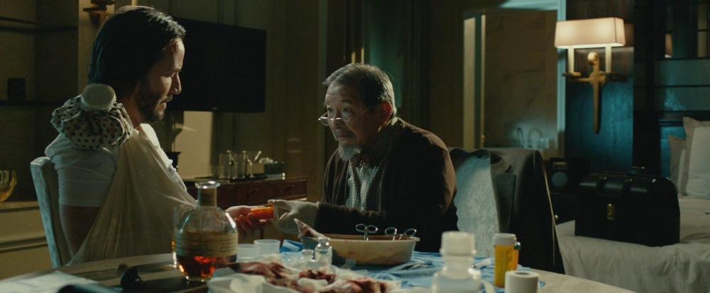 Keanu Reeves and Randall Duk Kim in John Wick (2014)