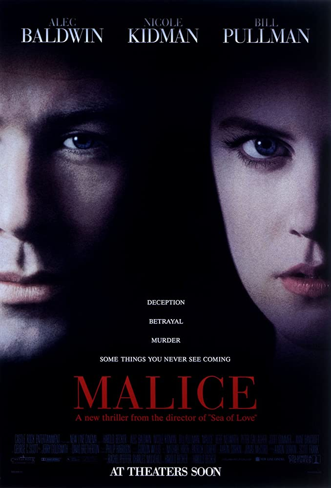 Nicole Kidman and Alec Baldwin in Malice (1993)
