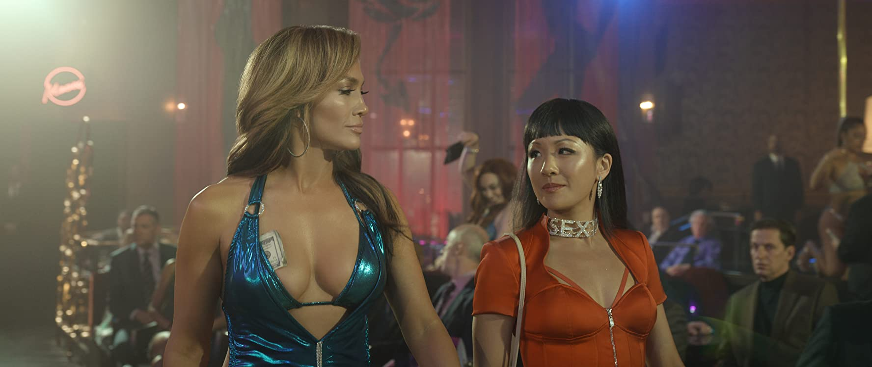 Jennifer Lopez and Constance Wu in Hustlers (2019)