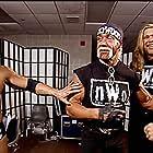 Hulk Hogan, Scott Hall, Dwayne Johnson, and Kevin Nash in WWF No Way Out (2002)