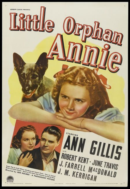 Ann Gillis, Robert Kent, and June Travis in Little Orphan Annie (1938)