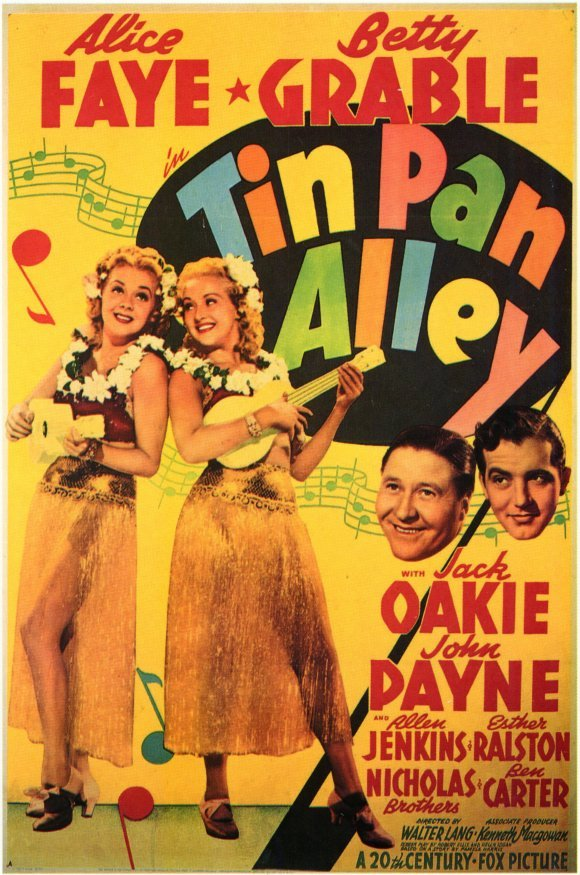 Betty Grable, Alice Faye, Jack Oakie, and John Payne in Tin Pan Alley (1940)