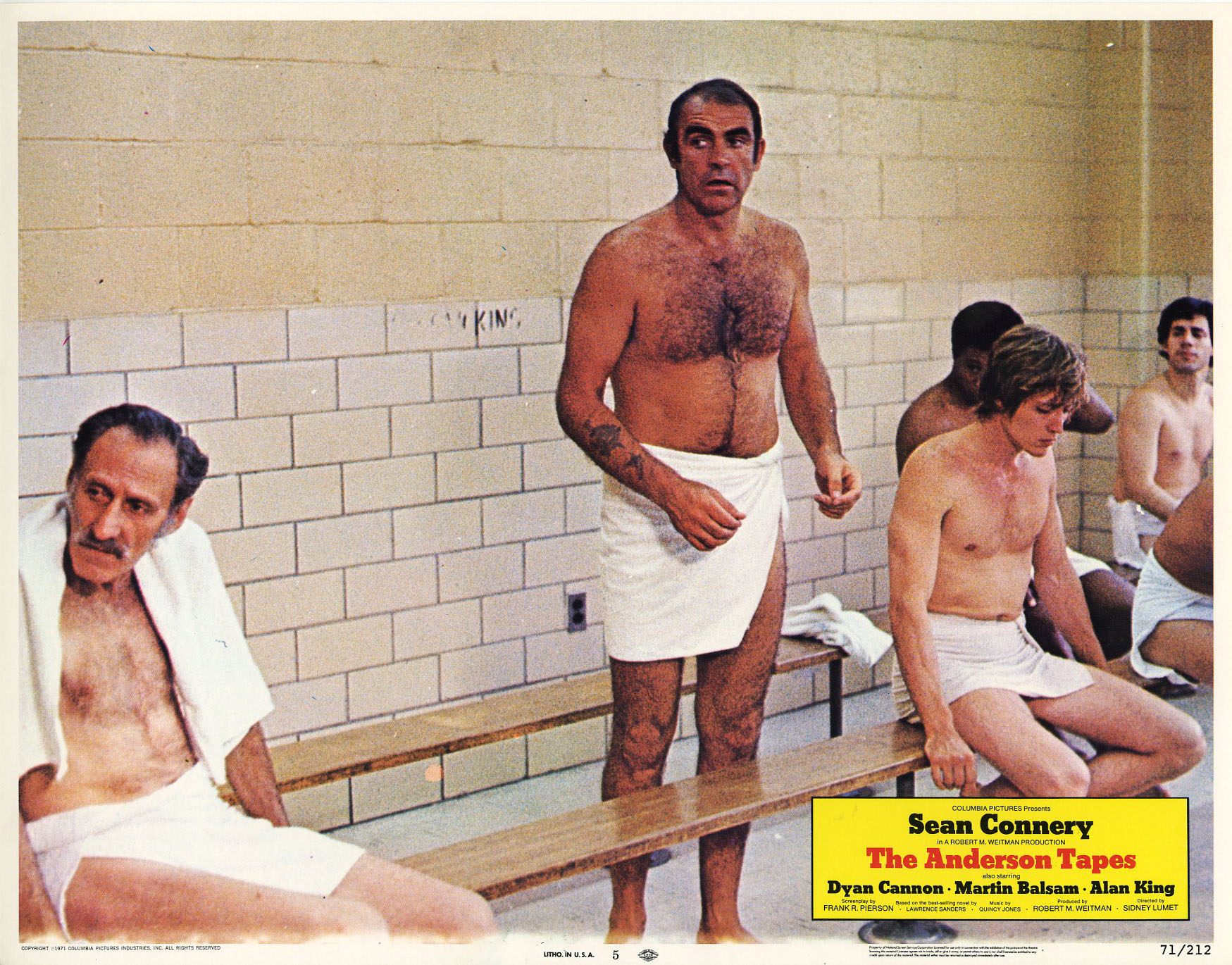 Sean Connery, Christopher Walken, and Stan Gottlieb in The Anderson Tapes (1971)