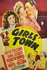 Edith Fellows, Kenneth Howell, June Storey, and Alice White in Girls' Town (1942)