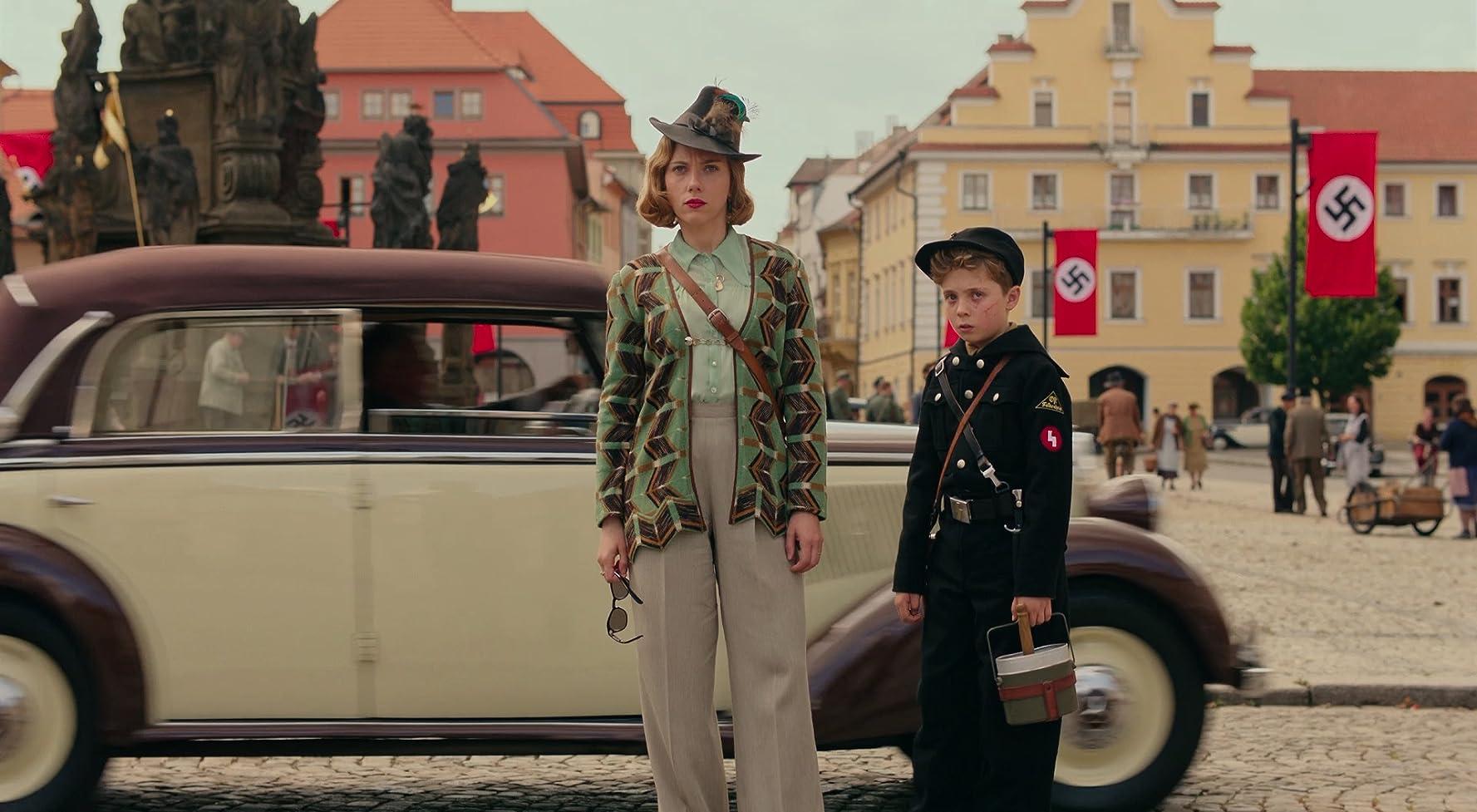 Scarlett Johansson and Roman Griffin Davis in Jojo Rabbit (2019)
