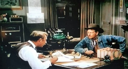 Frank Ferguson and Joel McCrea in The Lone Hand (1953)