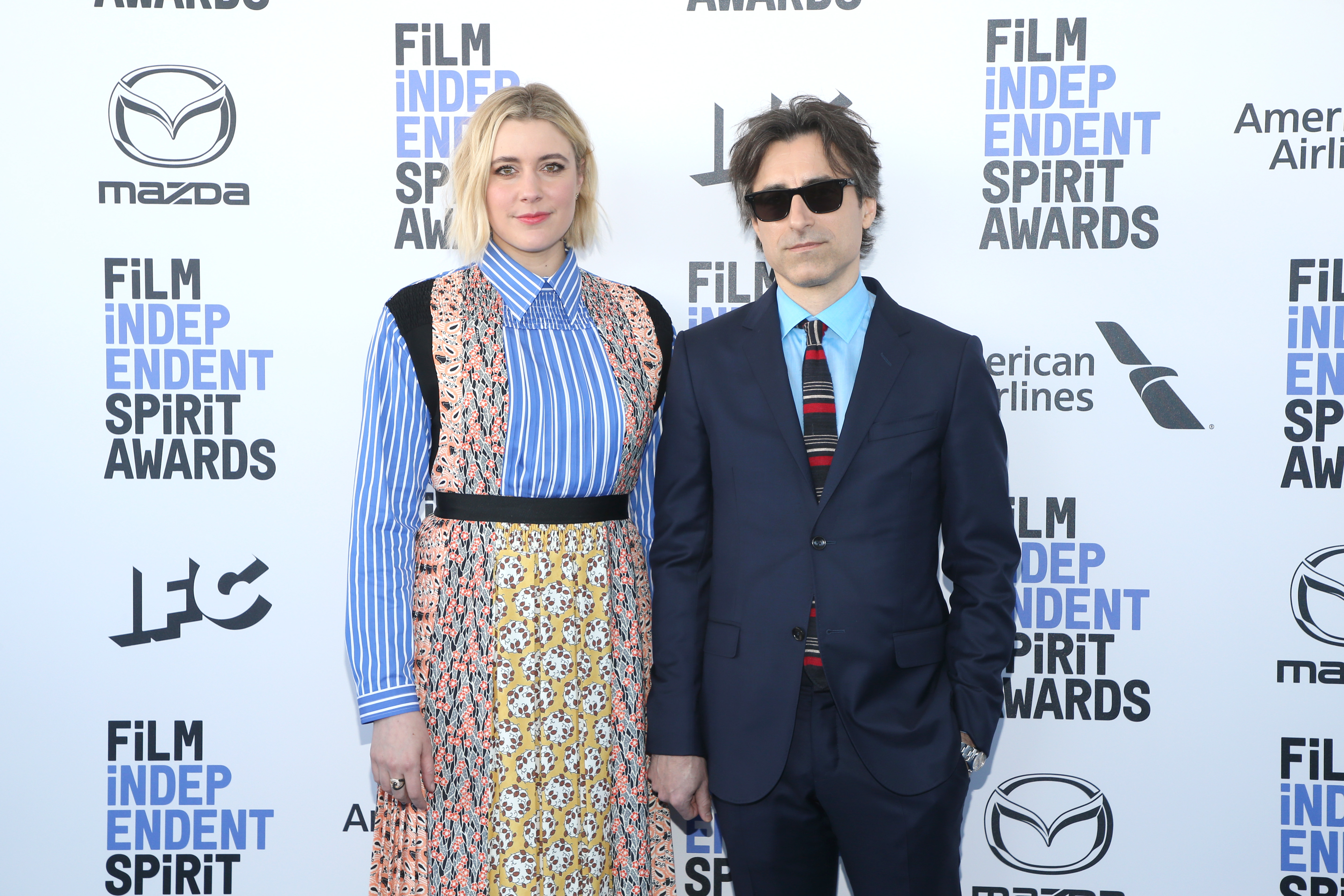 Noah Baumbach and Greta Gerwig at an event for 35th Film Independent Spirit Awards (2020)