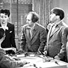 Moe Howard, Larry Fine, and Curly Howard in Gents Without Cents (1944)