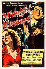 William Gargan, Ann Savage, George E. Stone, and George Zucco in Midnight Manhunt (1945)