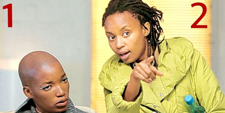 Wanuri Kahiu and Kudzani Moswela at an event for Pumzi (2009)