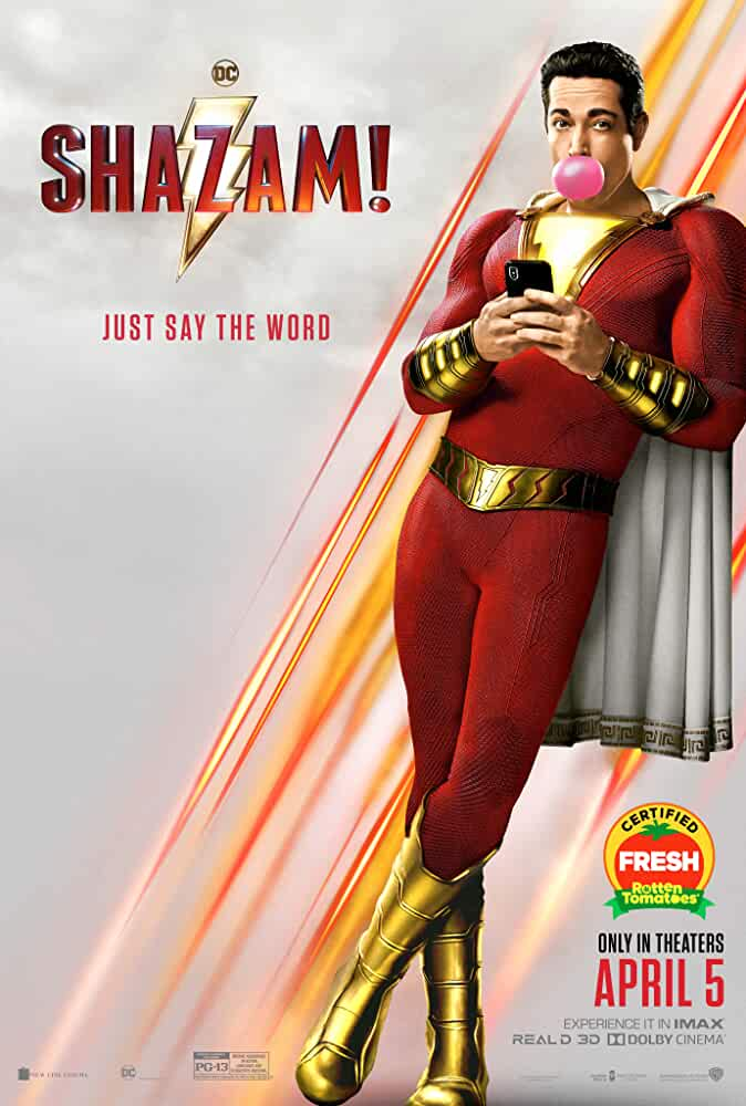 Shazam! (2019) 480p HDTS Dual Audio Hindi (Cleaned) or English x264 350MB