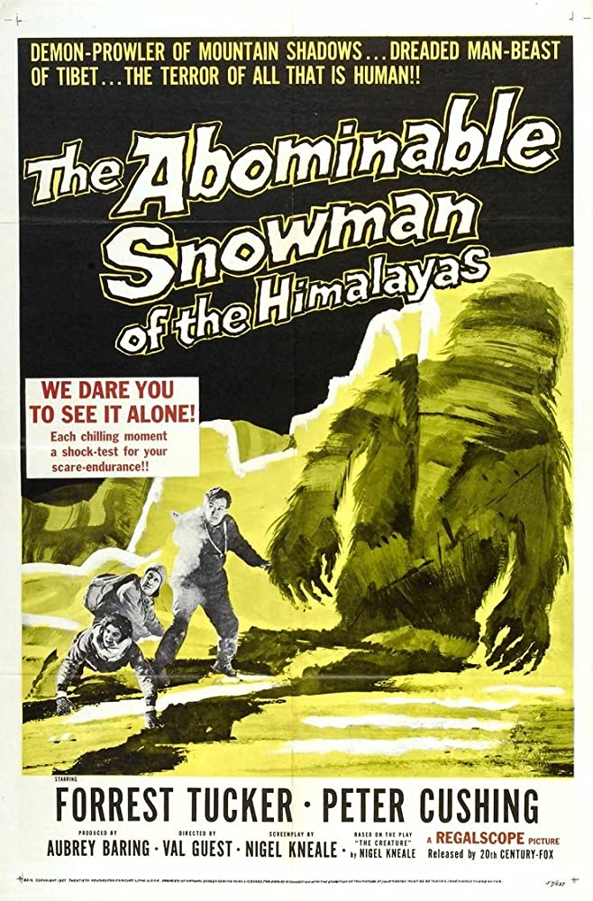 Peter Cushing, Maureen Connell, and Forrest Tucker in The Abominable Snowman (1957)