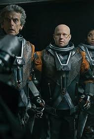 Peter Capaldi, Matt Lucas, and Pearl Mackie in Doctor Who (2005)