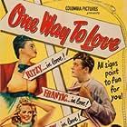 Hugh Herbert, Janis Carter, Marguerite Chapman, Chester Morris, and Willard Parker in One Way to Love (1946)