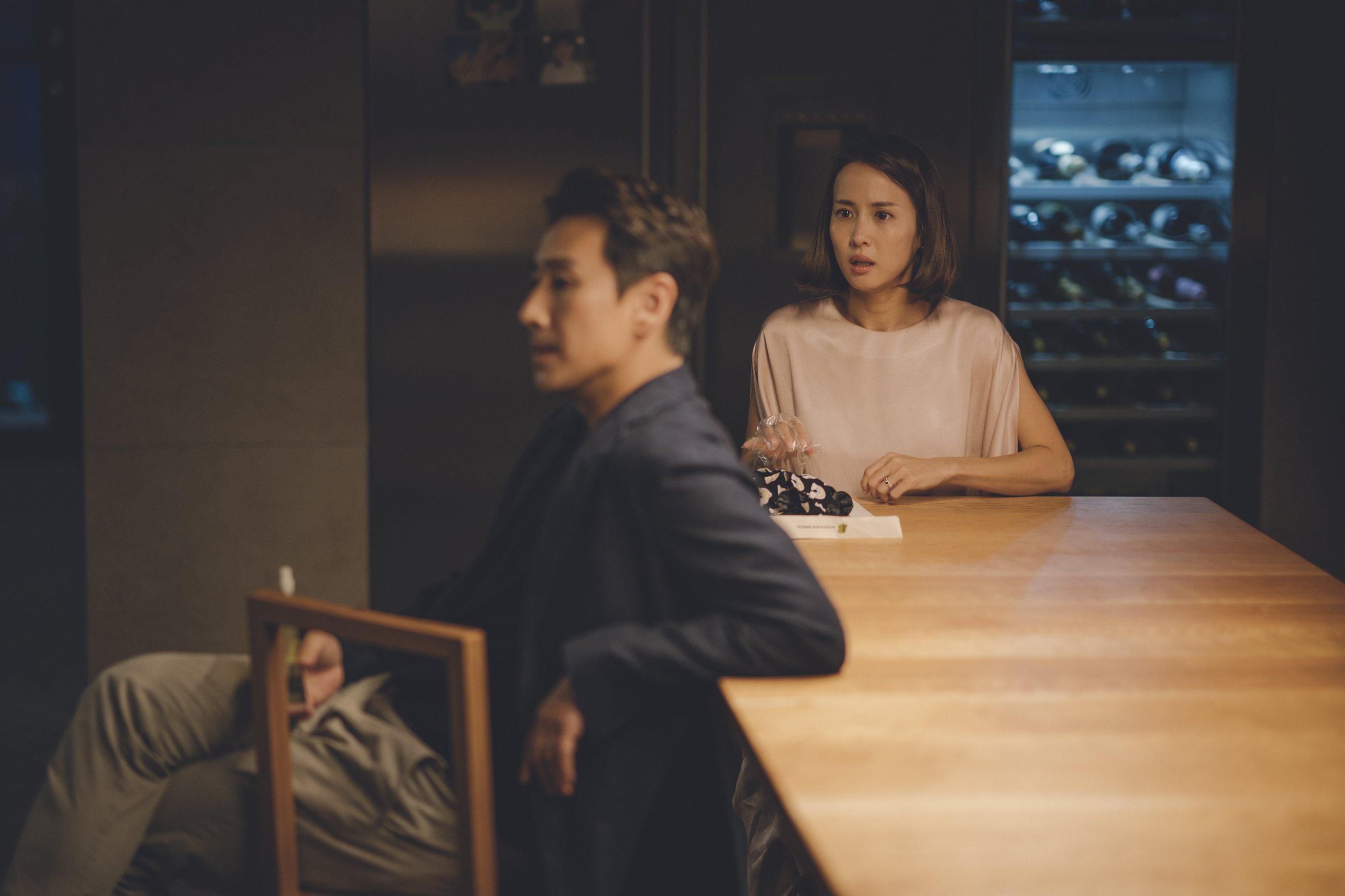 Sun-kyun Lee and Yeo-jeong Cho in Gisaengchung (2019)