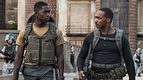 When disgraced drone pilot, Lt. Harp (Damson Idris) is sent into a deadly militarized zone after disobeying orders, he finds himself working for Capt. Leo (Anthony Mackie), an android officer tasked with locating a doomsday device before insurgents do.  Outside the Wire is directed by Mikael Hafstrom and debuts on Netflix January 15.