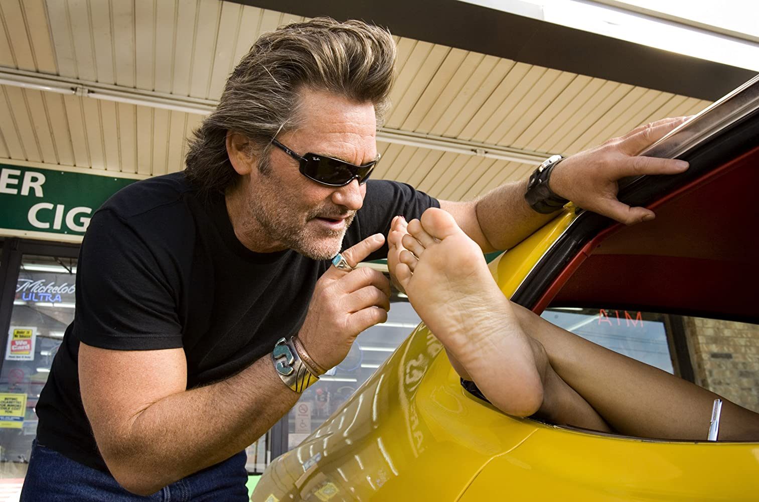 Kurt Russell and Rosario Dawson in Death Proof (2007)