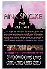 Pink Smoke Over the Vatican Poster
