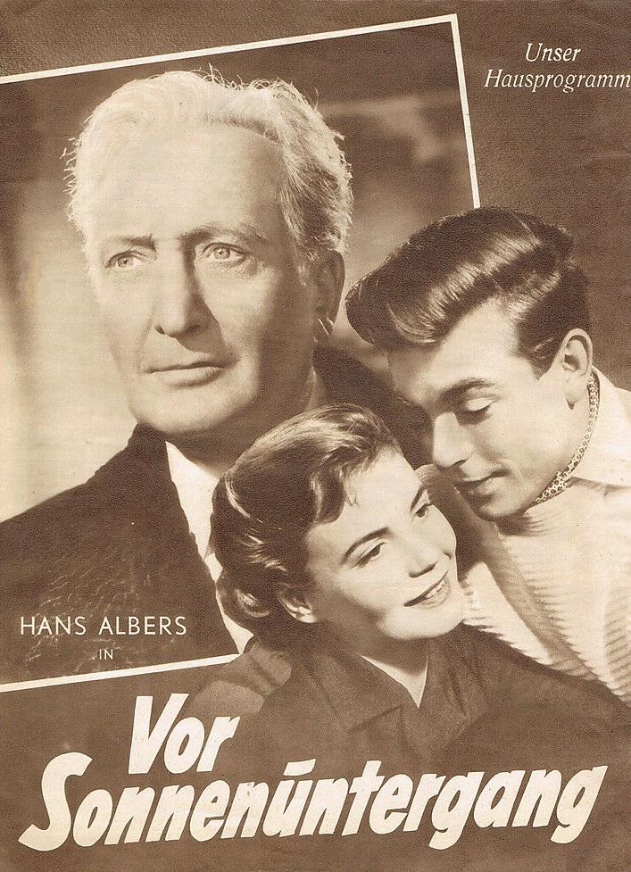 Hans Albers, Claus Biederstaedt, and Annemarie Düringer in Vor Sonnenuntergang (1956)