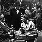 William Powell, Betsy Drake, Adolphe Menjou, and Mark Stevens in Dancing in the Dark (1949)