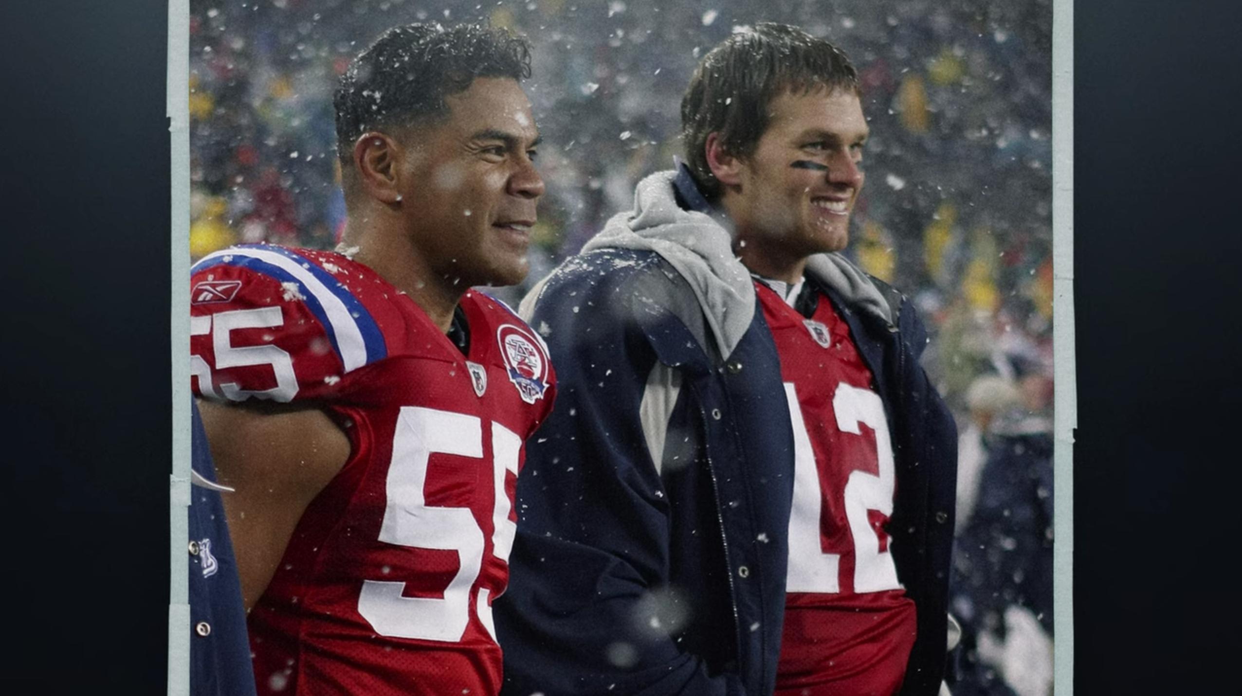 Junior Seau and Tom Brady