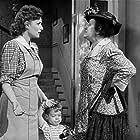 Maureen O'Hara, Roddy McCaskill, and Minerva Urecal in Sitting Pretty (1948)