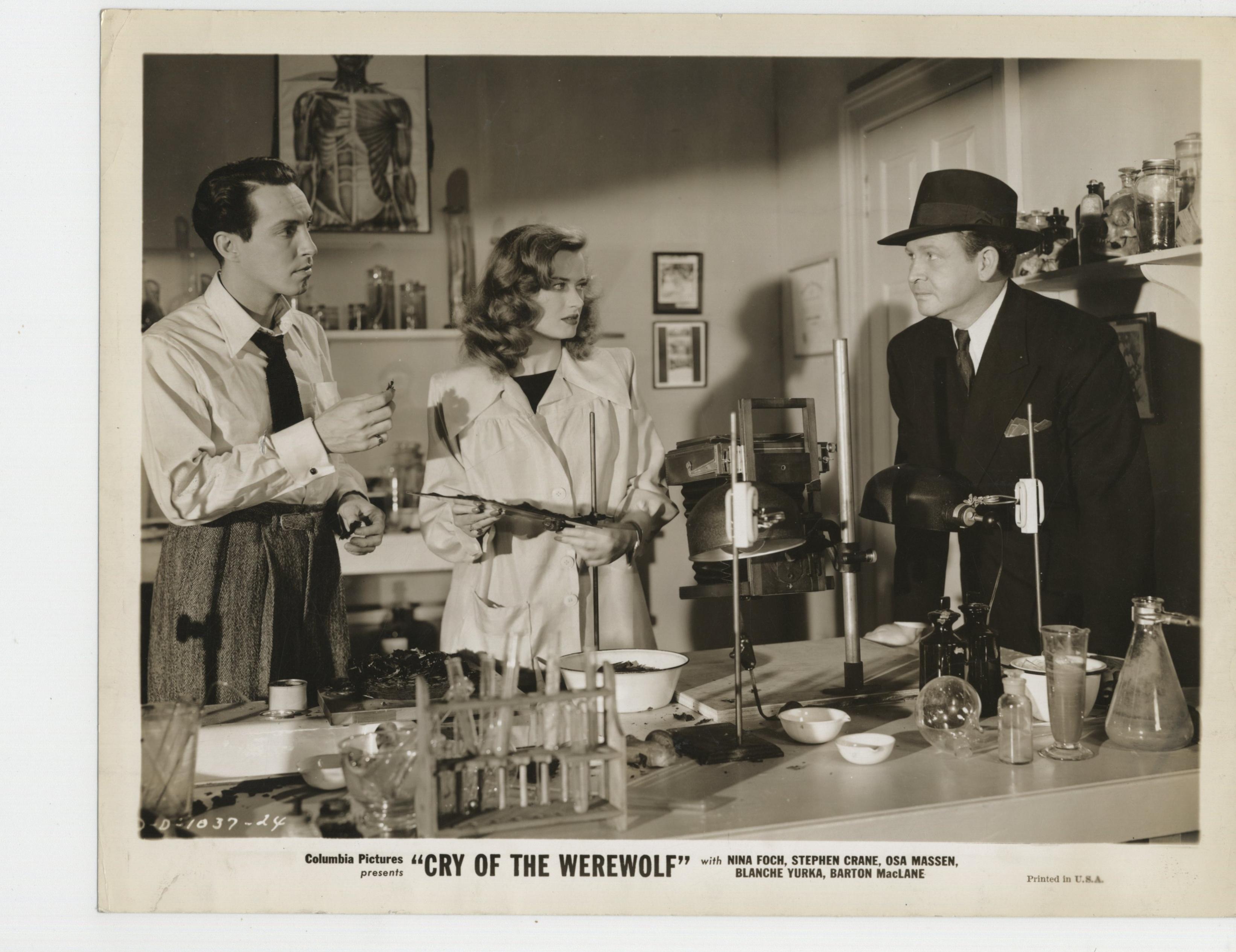 Stephen Crane, Barton MacLane, and Osa Massen in Cry of the Werewolf (1944)