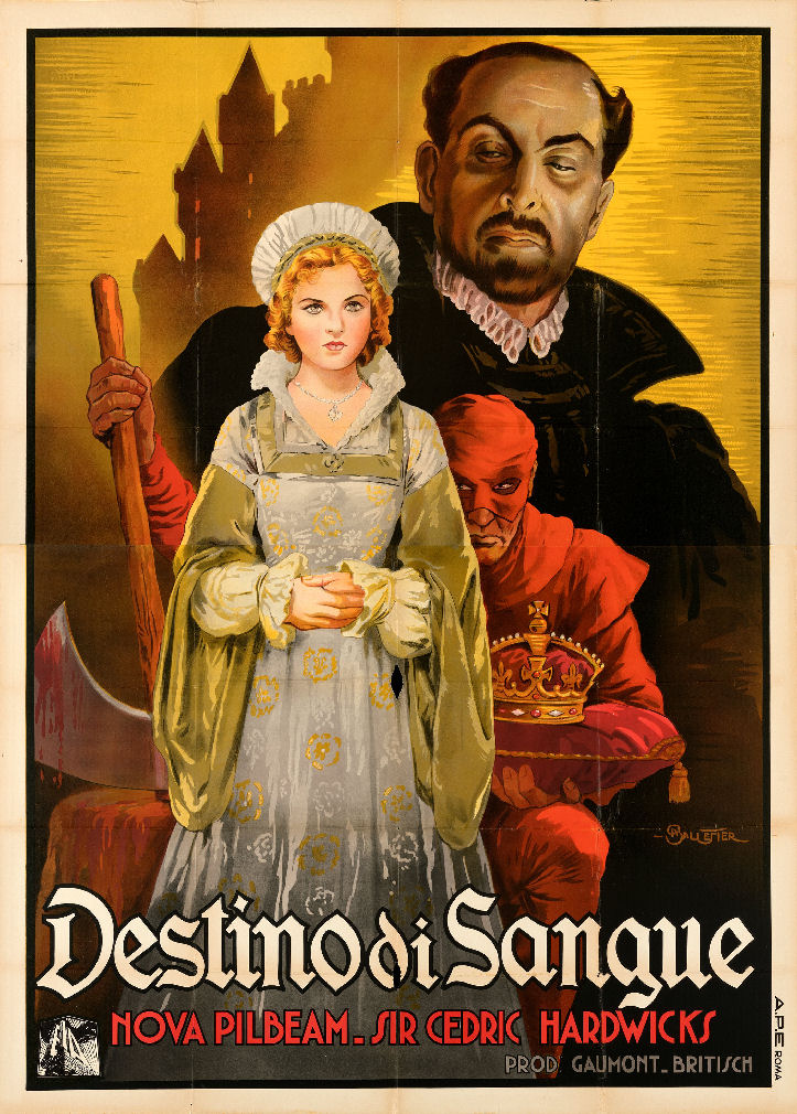 Tudor Rose aka Destino di sangue (Fate of blood, 1936) Italian poster by Anselmo Ballester