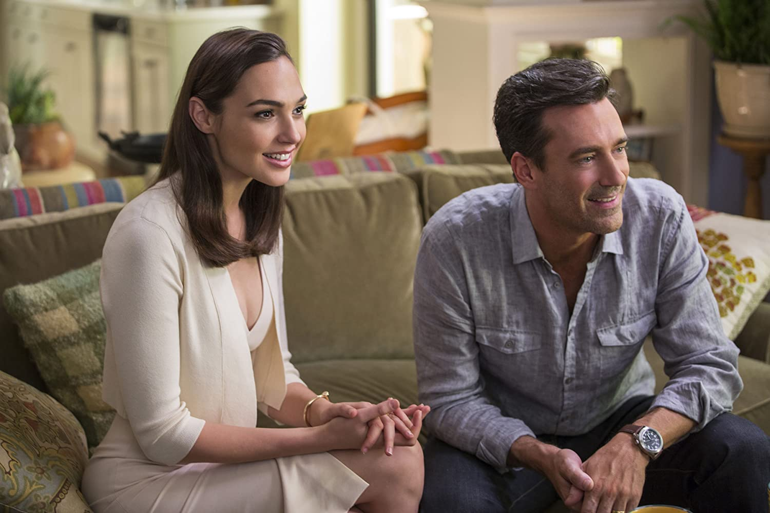 Jon Hamm and Gal Gadot in Keeping Up with the Joneses (2016)