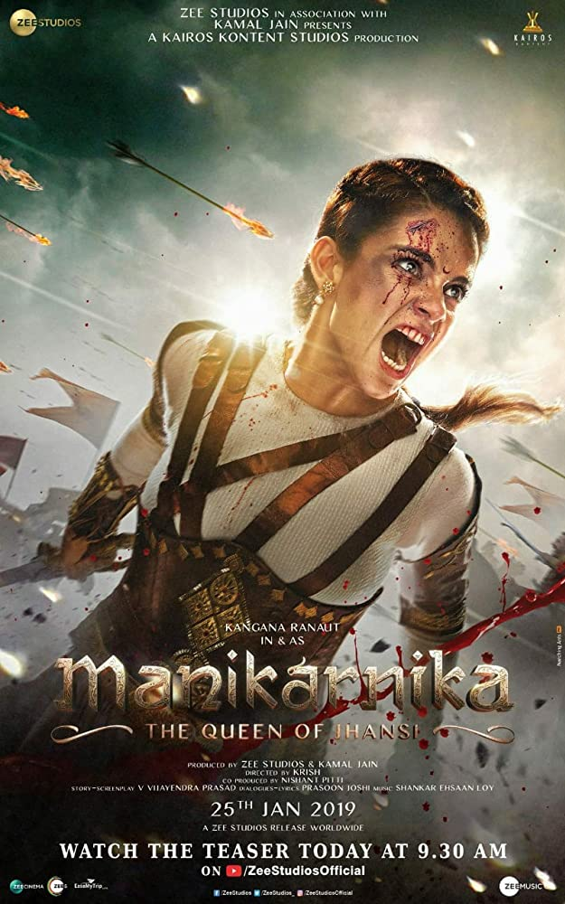 Manikarnika: The Queen of Jhansi 2019 Hindi Movie 720p BluRay 1GB ESubs